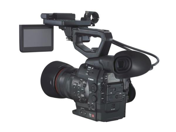 EOS 300C REVERSE w EF 85mm 1 2 L II USM w HOOD w MONITOR HAND DOWN