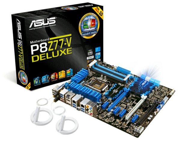 PR ASUS P8Z77 V DELUXE Motherboard with Box and Wi Fi GO Aerials