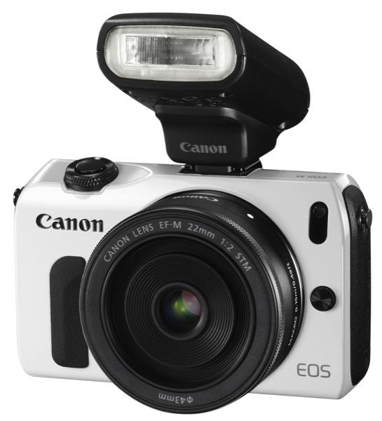 EOS M WHITE FSL w EF M 22mm STM w SPEEDLITE 90EX ZWAME