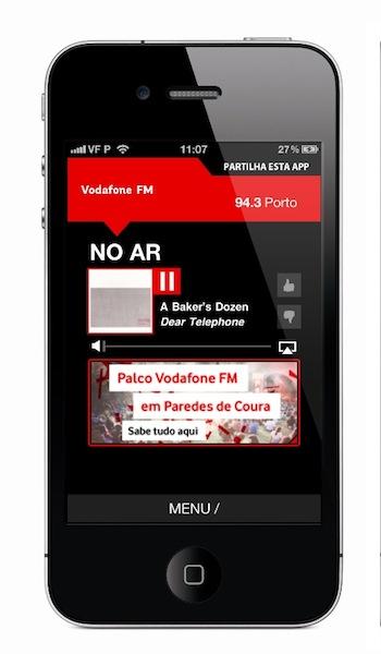 Nova app Vodafone FM No ar