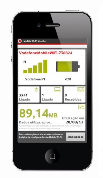 Vodafone Mobile Wi Fi Monitor ZWAME