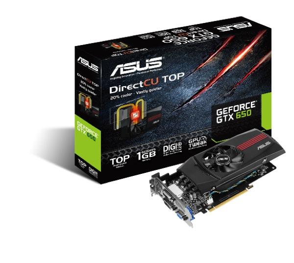 ASUS GeForce GTX 650 DirectCU TOP ZWAME