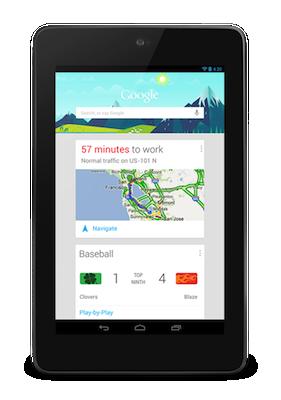 Nexus7 GoogleNow