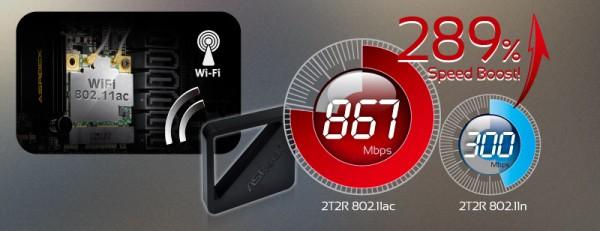 ASRock A-Style_ 2T2R Dual Band 802 11ac WiFi + Bluetooth v4. 0
