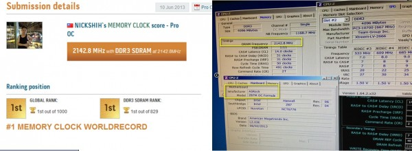 ASRock's Z87M OC Formula Breaks World Record Again with Memory Running at DDR3 4285.6MHz