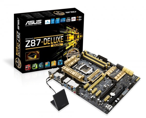 ASUS Z87-DELUXE DUAL with Wi-Fi GO! antenna